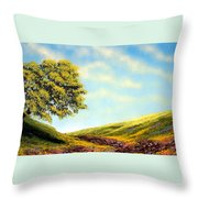 Flowered Fields Throw Pillow
