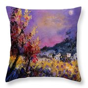 Flowered Landscape 569070 Throw Pillow
