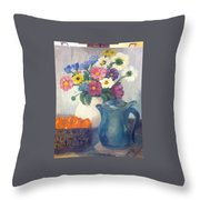 Flowered Love Throw Pillow