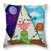 Flowered Out Throw Pillow
