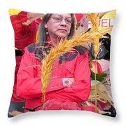 Flowered Raven Redfox Throw Pillow