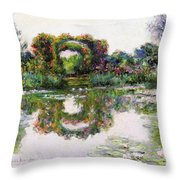 Flowering Arches, Giverny Throw Pillow