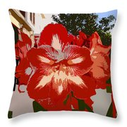 Flowering Backyard Work Number 33 Throw Pillow