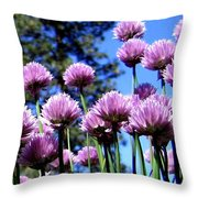 Flowering Chives Throw Pillow
