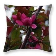 Flowering Crabapple Throw Pillow