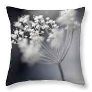 Flowering Dill Cluster Throw Pillow