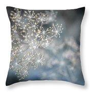 Flowering Dill Macro Throw Pillow