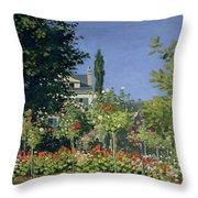 Flowering Garden At Sainte-adresse Throw Pillow