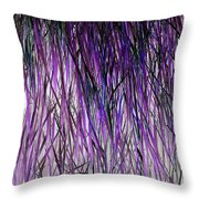 Flowering Grass Of The Future Throw Pillow