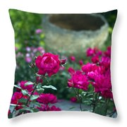 Flowering Landscape Throw Pillow