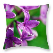 Flowering Lilac Throw Pillow