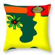 Flowering Melody 2 Throw Pillow