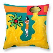 Flowering Melody Throw Pillow