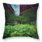 Flowering Oasis Throw Pillow