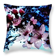 Flowering Of The Plum Tree 7 Throw Pillow