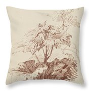 Flowering Plant With Buds Throw Pillow