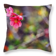 Flowering Quince In Spring Throw Pillow