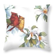Flowering Season II Throw Pillow