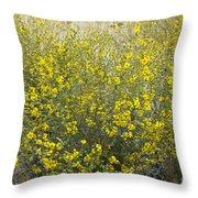 Flowering Tarweed Throw Pillow