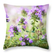 Flowering Thyme Throw Pillow