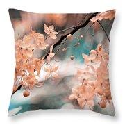 Flowering Tree. Nature In Alien Skin Throw Pillow