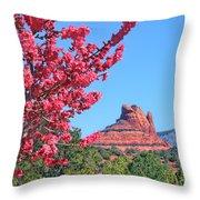 Flowering Tree - Sedona Red Rock Throw Pillow
