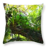Flowering Twisted Roots Throw Pillow