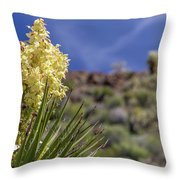 Flowering Yucca Throw Pillow