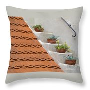 Flowerpots Ascending Throw Pillow