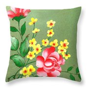 Flowers - 2 Throw Pillow