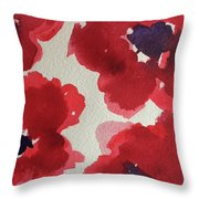 Poppy Happiness Throw Pillow