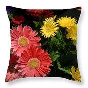 Flowers 728 Throw Pillow