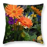 Flowers 730 Throw Pillow