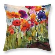 Wildflower Trail Throw Pillow