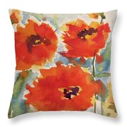 Poppies Wanted Throw Pillow