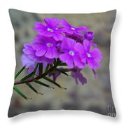 Flowers Against The Wall Throw Pillow