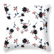 Flowers All Around Throw Pillow