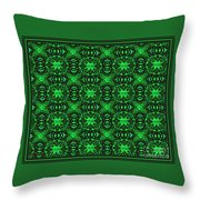 Flowers And Bees Abstract Throw Pillow