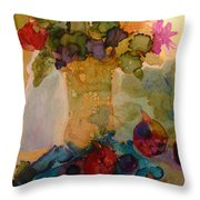Flowers And Figs Throw Pillow