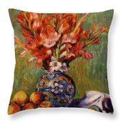 Flowers And Fruit 1889 Throw Pillow