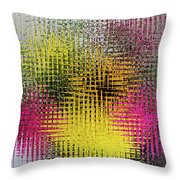 Flowers And Glass Throw Pillow