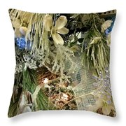 Flowers And Icicles Throw Pillow