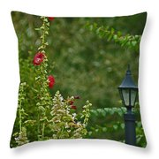 Flowers And Lanterns Throw Pillow