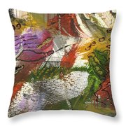 Flowers And Leaves IIi Throw Pillow