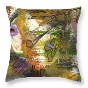 Flowers And Leaves Iv Throw Pillow