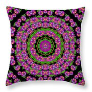 Flowers And More Floral Dancing A Power Peace Dance Throw Pillow