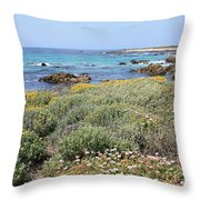 Flowers And Surf Throw Pillow