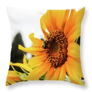 Flowers And The Bees Throw Pillow