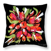Flowers, Art Collage Throw Pillow