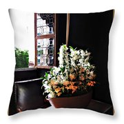Flowers At Chenonceau Throw Pillow